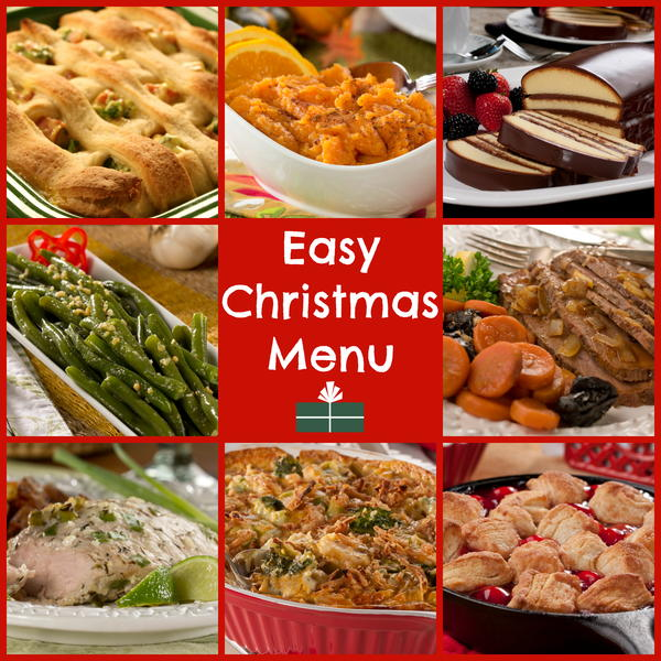 World 39 s easiest christmas dinner menu for Southern christmas dinner menu ideas