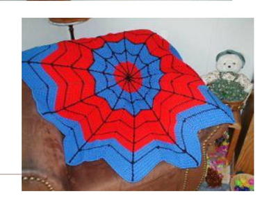 Spiderman Round Ripple Afghan