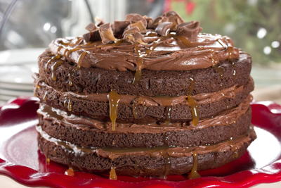 Tall Dark and Handsome Cake
