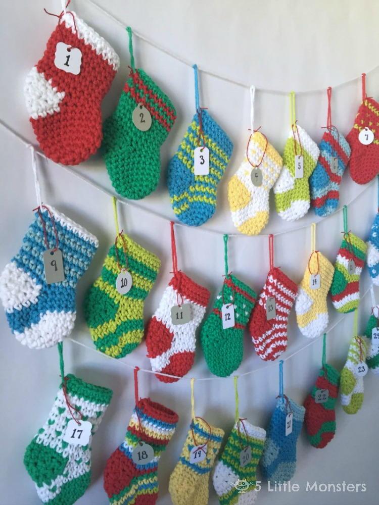 Crochet Stocking Advent Calendar Allfreecrochet Com
