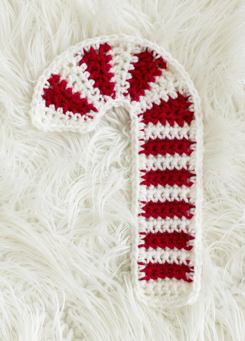 Candy Cane Crochet Hot Pad