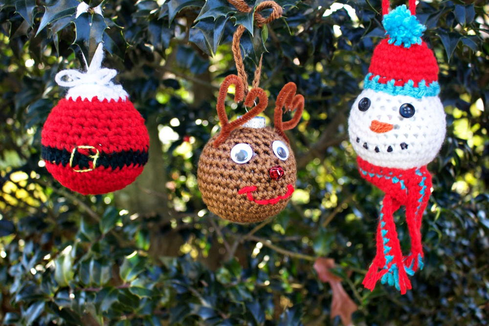 crochet christmas tree ornaments. Black Bedroom Furniture Sets. Home Design Ideas