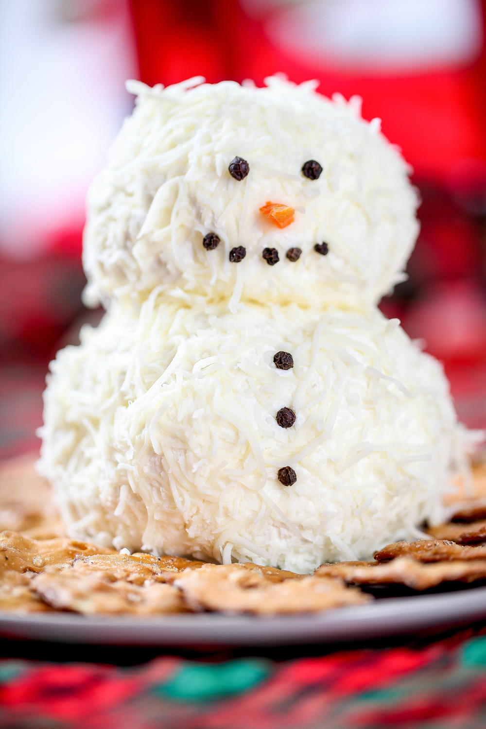 Snowman Cheese Ball Easy Christmas Appetizer - No. 2 Pencil  Snowman Cheese Ball Appetizer
