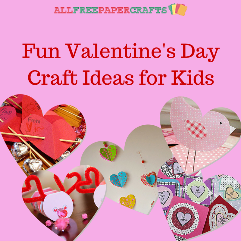 16 fun valentine 39 s day craft ideas for kids for Crafts for valentines day ideas