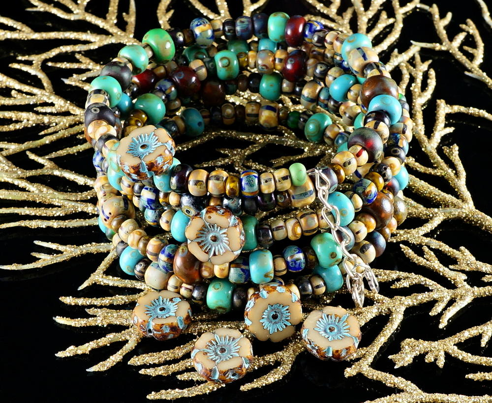 Beaded Tribal Boho Bracelet Allfreejewelrymaking Com