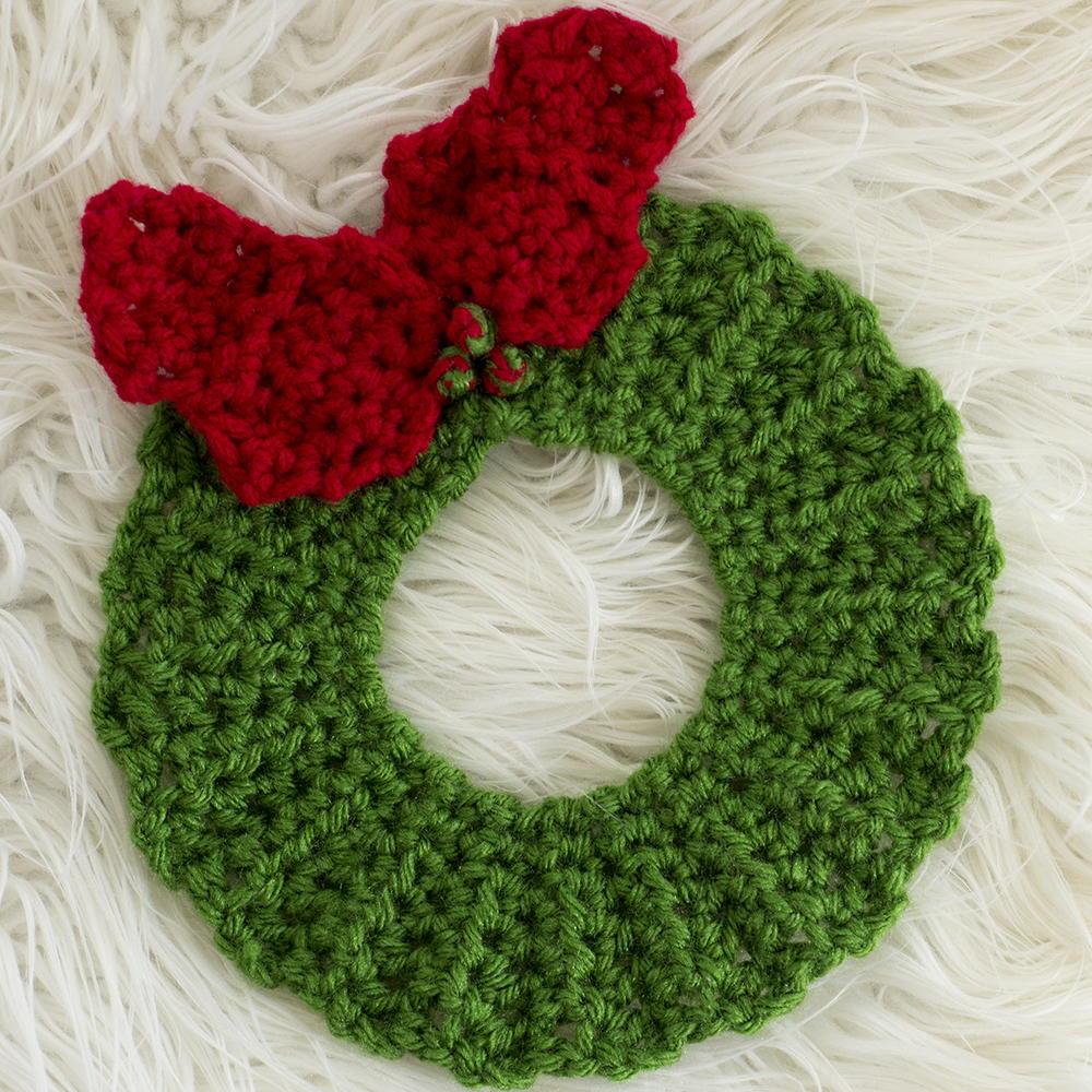 Crochet Christmas Wreath Hot Pad Pattern Allfreecrochet Com