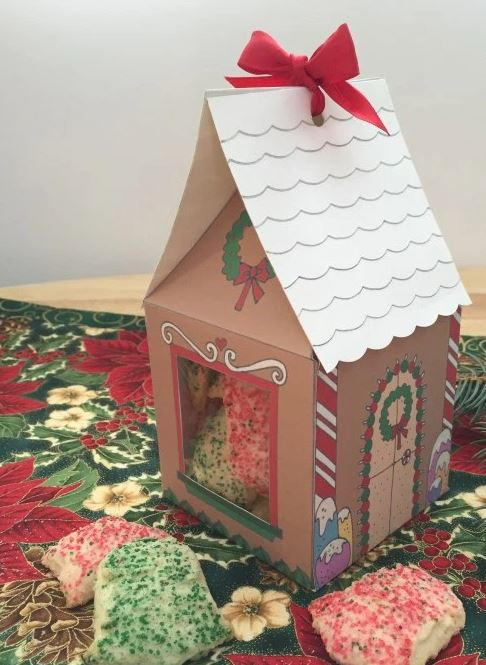 Marvelous Free Printable Gingerbread House Treat Boxes Download Free Architecture Designs Rallybritishbridgeorg