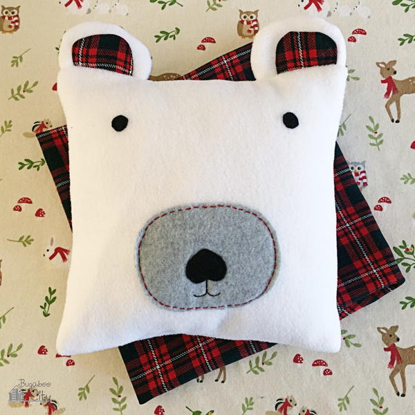 Snuggly Polar Bear DIY Pillow