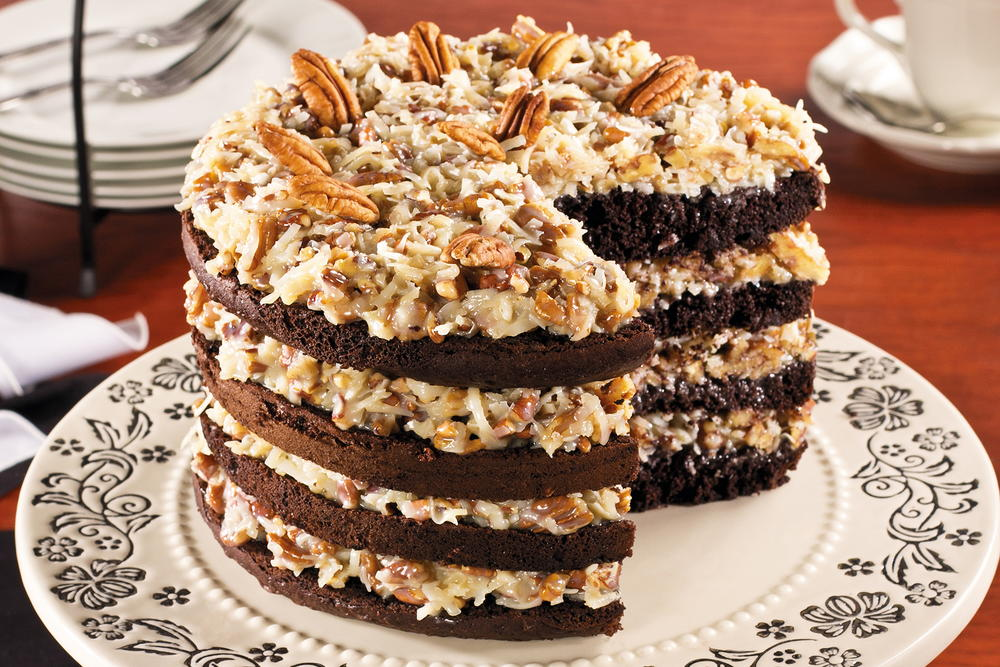 German Chocolate Pan Cakes