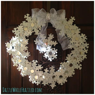 Snowflake Puzzle DIY Wreath