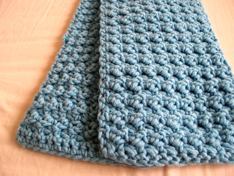 Easy And Textured Scarf Allfreecrochet Com