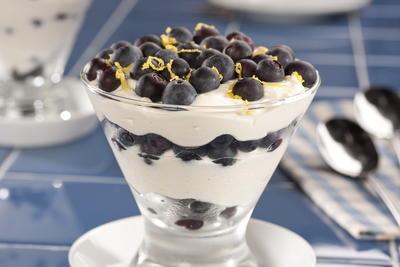 EDR Lemon Cream and Blueberry Parfaits