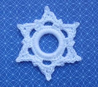 Crochet Six Point Snowflake Ornament