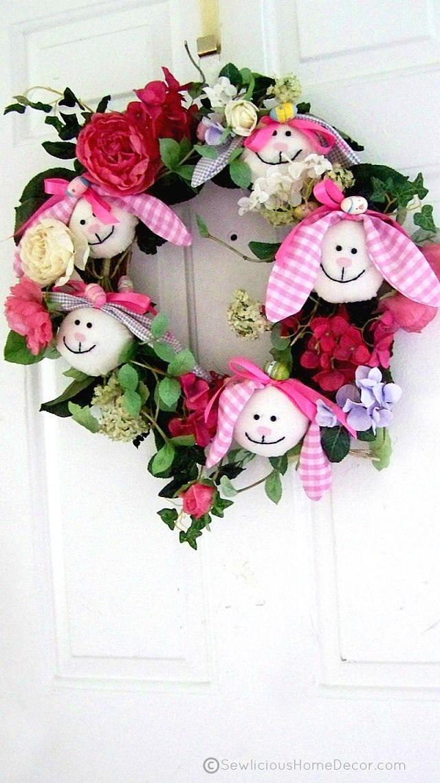 Easter Bunny DIY Wreath FaveCrafts