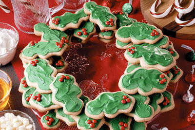 Layered Cookie Wreath