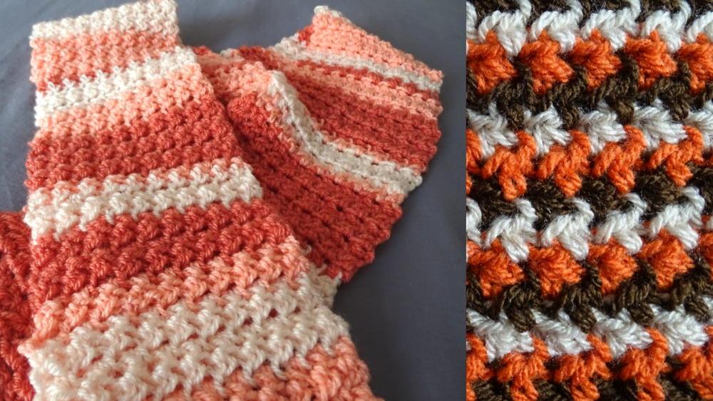 stitch scarf allfreecrochet