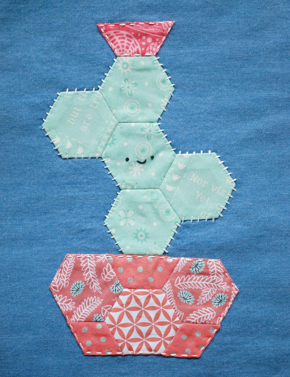 Happy Cactus Applique Pattern Favequilts Com