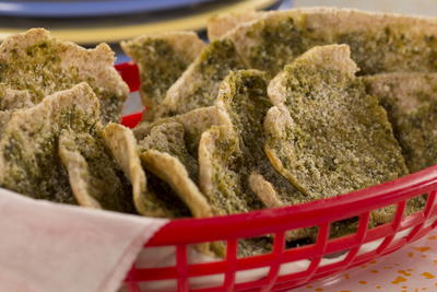 Parmesan Pesto Pita Wedges
