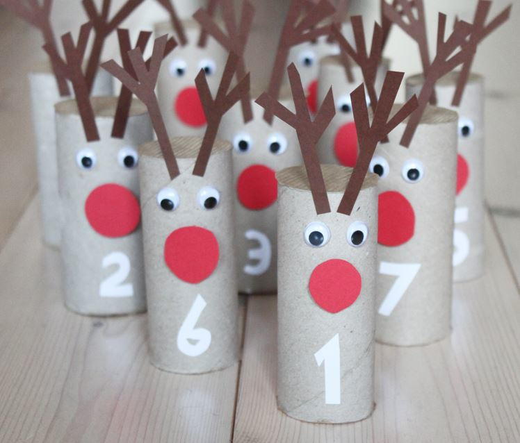 Rudolph Toilet Paper Roll Advent