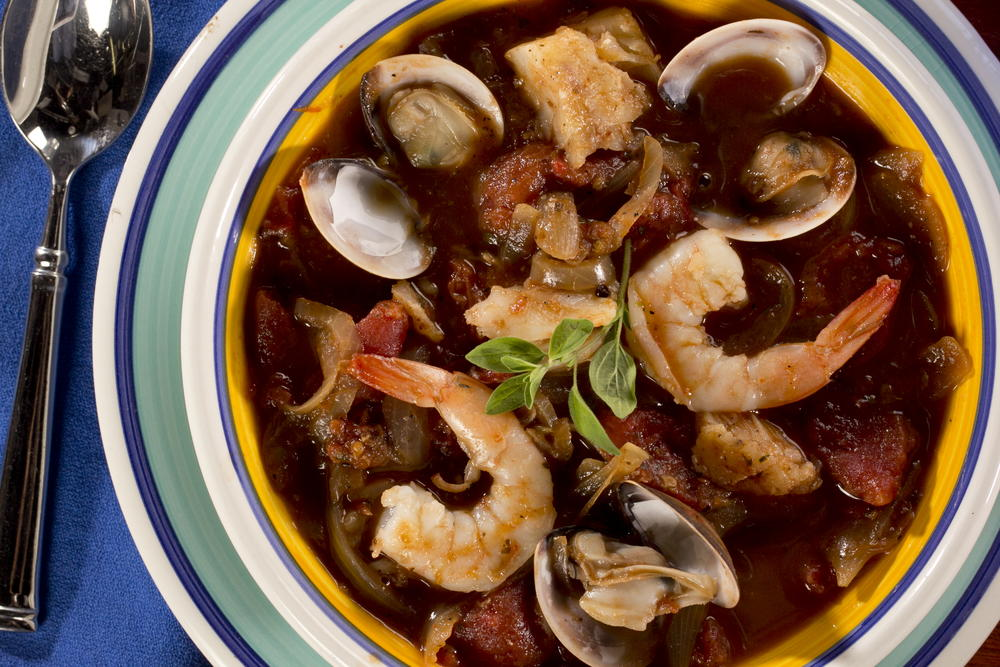 Up the ante on your fish dinner with the help of shrimp and clams!