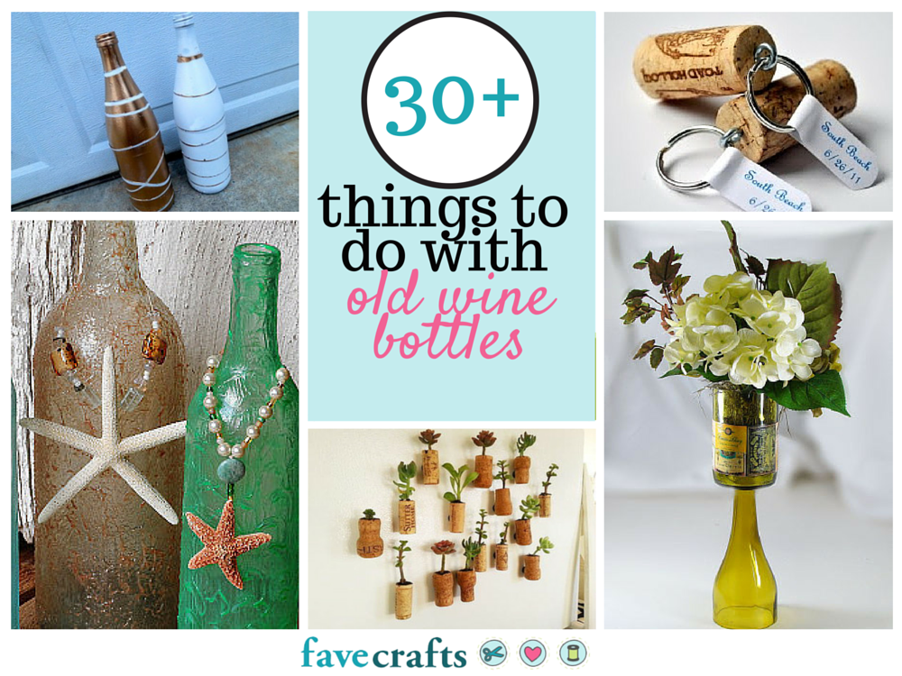30 things to do with old wine bottles for How to make wine bottle crafts