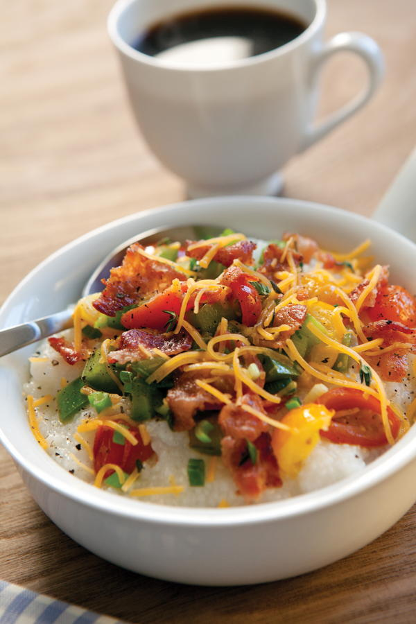 Tomato, Bacon, and Cheddar Grits | EverydayDiabeticRecipes.com
