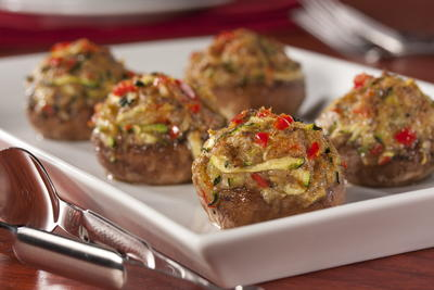 EDR Veggie Stuffed Mushrooms