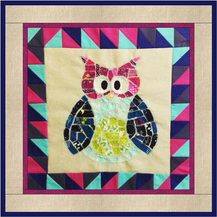Ticker Tape Owl Quilt Block Favequilts Com
