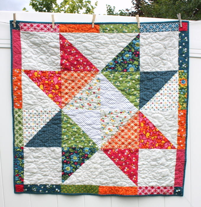 Quilting Pattern For Lone Star : Lone Star Baby Quilt Pattern FaveQuilts.com