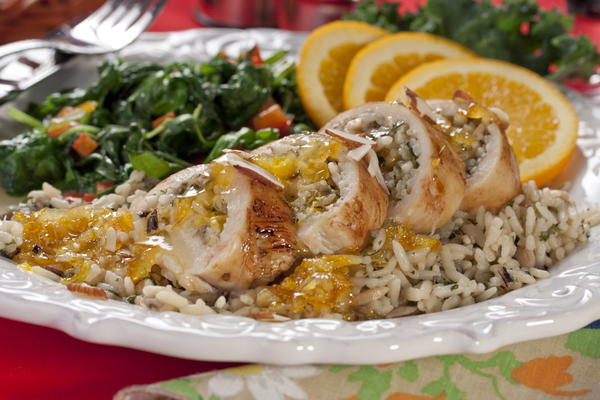 Orange-Glazed Chicken Bundles