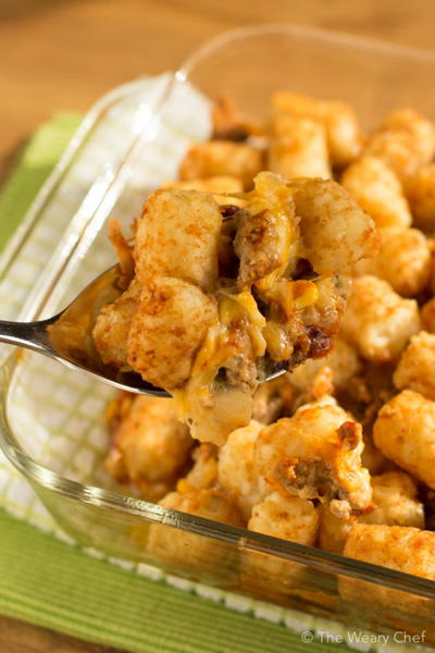 Easy BBQ Tater Tot Casserole