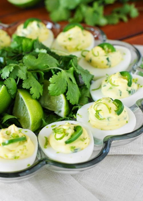 Cilantro Deviled Eggs