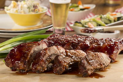 Raspberry Pepper Glazed Ribs