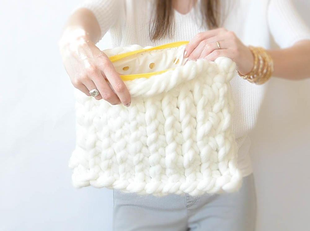 Giant Yarn Plush Knit Bag Favecrafts Com