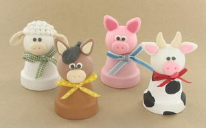 4 Barnyard Polymer Clay Ideas