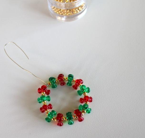 Beaded Wreath Ornament Allfreechristmascrafts Com