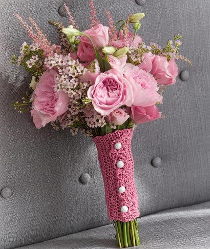 Crochet Wedding Gift Patterns: Crochet Bridal Bouquet Wrap