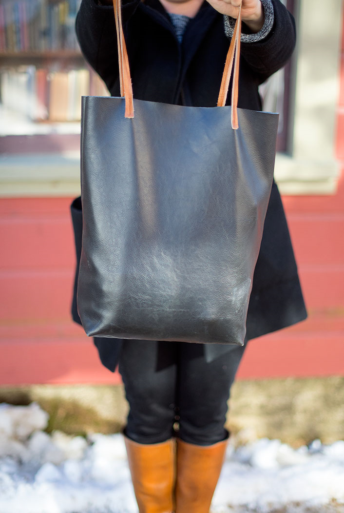 Faux Leather Tote Bag Allfreesewing Com