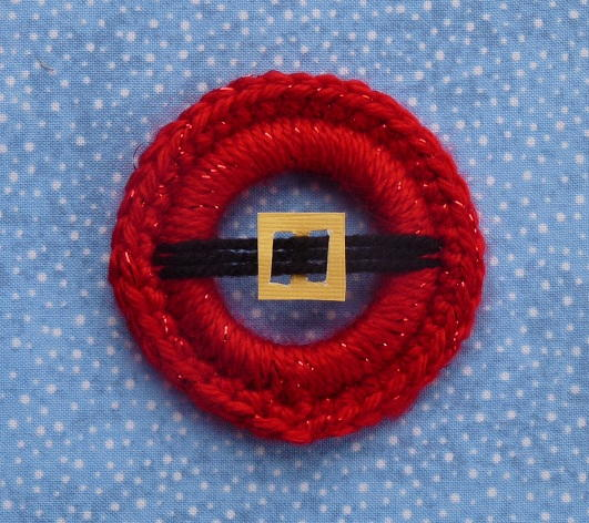 Crochet Santa 39 s Belly Ornament