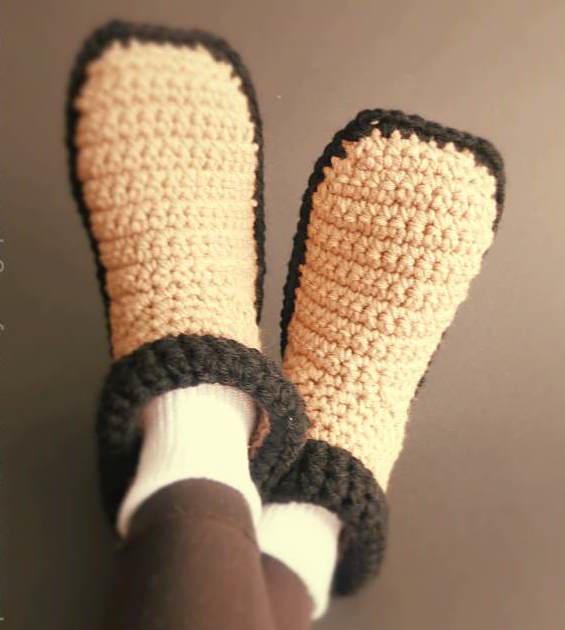 Easy Crocheted Adult Slippers Allfreecrochetcom