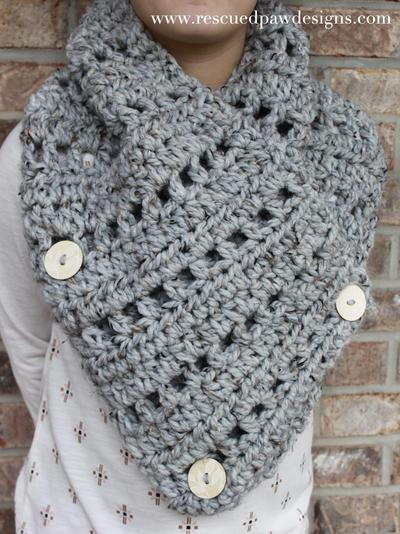 Katie Button Crochet Cowl AllFreeCrochet.com