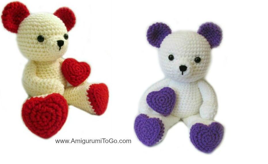 Free Teddy Bear crochet pattern - Amigurumi Today | 572x931