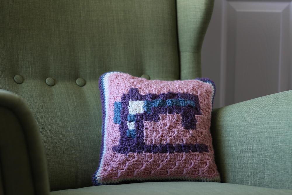 C2c Crochet Sewing Machine Pillow Allfreecrochet Com