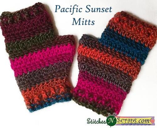 Crochet Jersey Stitch : Jersey Mitts for Men AllFreeCrochet.com