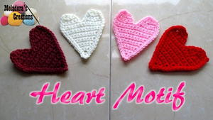 Crochet Heart Motif Applique