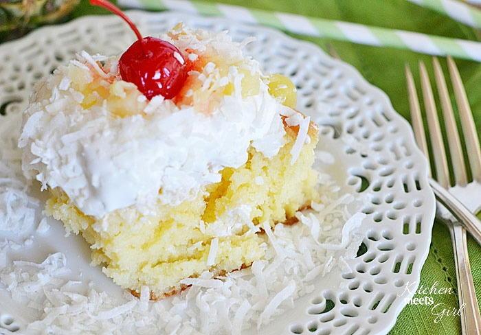 Paradise Pina Colada Poke Cake Thebestdessertrecipes Com