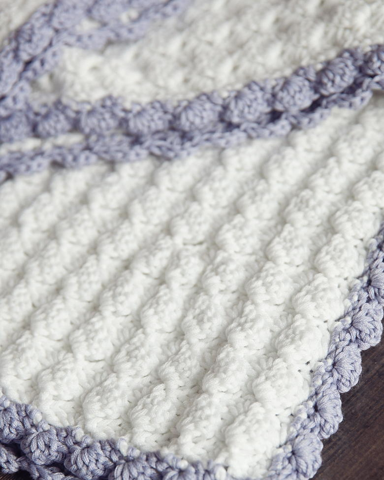 Crocheting Edges On Baby Blankets : Vintage Chic Crochet Baby Blanket AllFreeCrochetAfghanPatterns.com