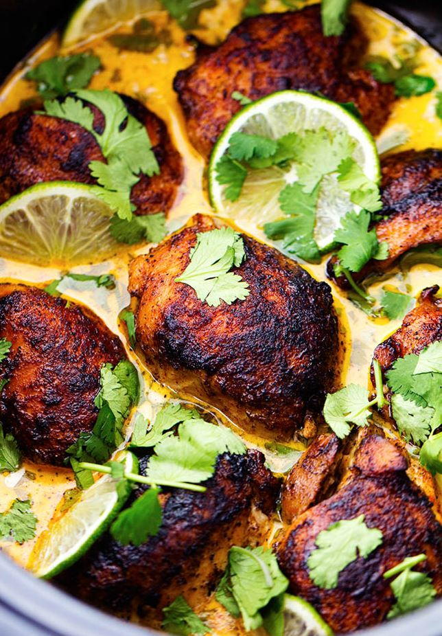 Slow Cooker Cilantro Lime Chicken | AllFreeSlowCookerRecipes.com