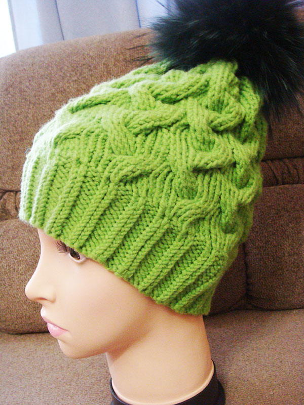Electric Green Cable Hat  217638e9f79