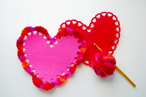 Felt Crochet Heart Pattern